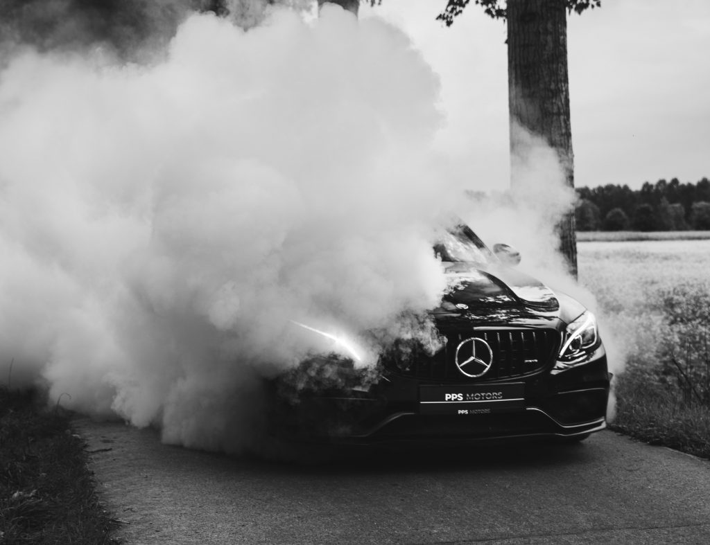 Mercedes car is over heating and smoking - transmission service
